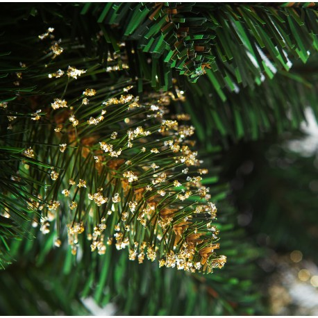 Gold Pine with crystals